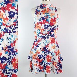 {Parker} Floral Keyhole Sleeveless Mini Dress Sz 4